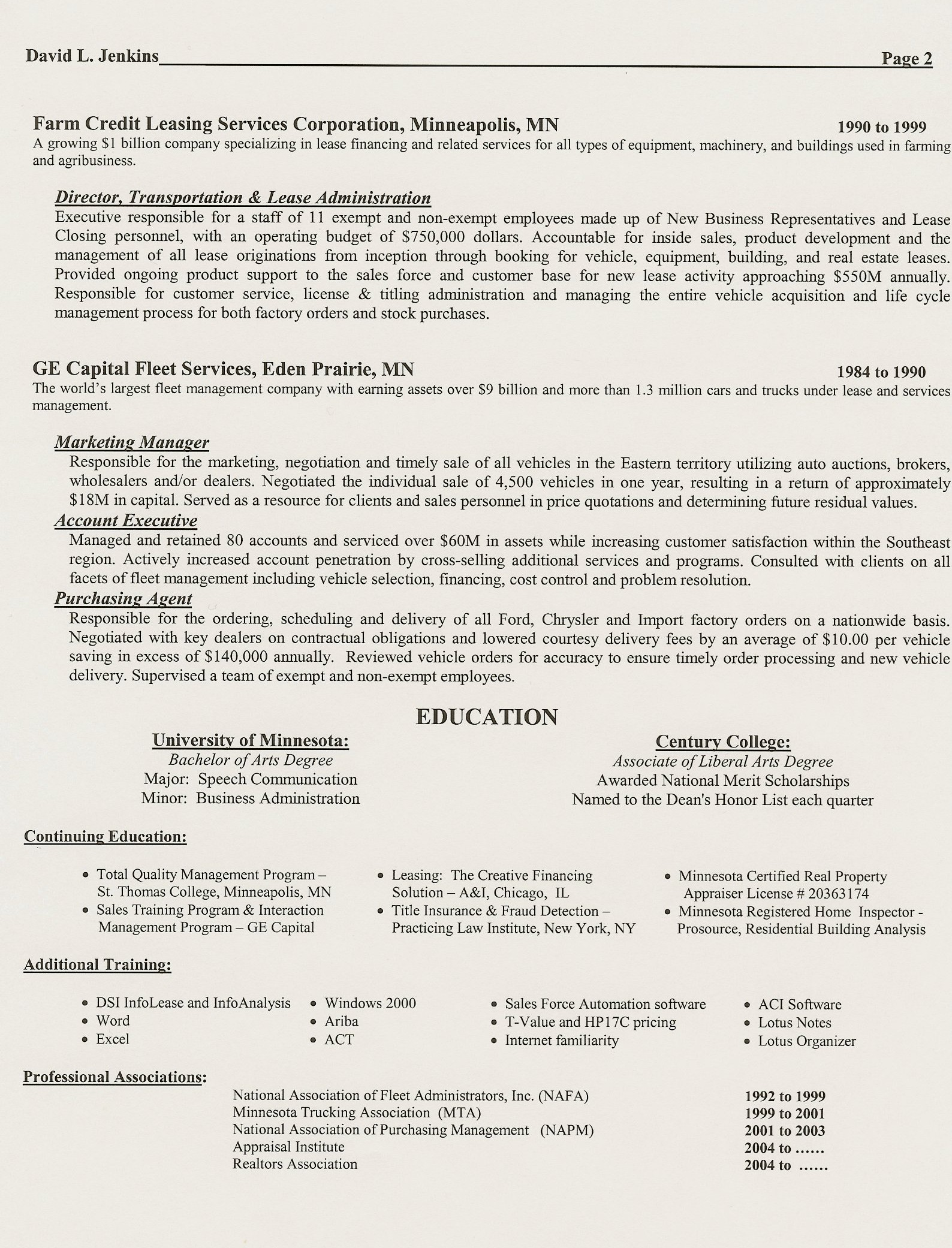 two page resume real estate resume two page resume 1254